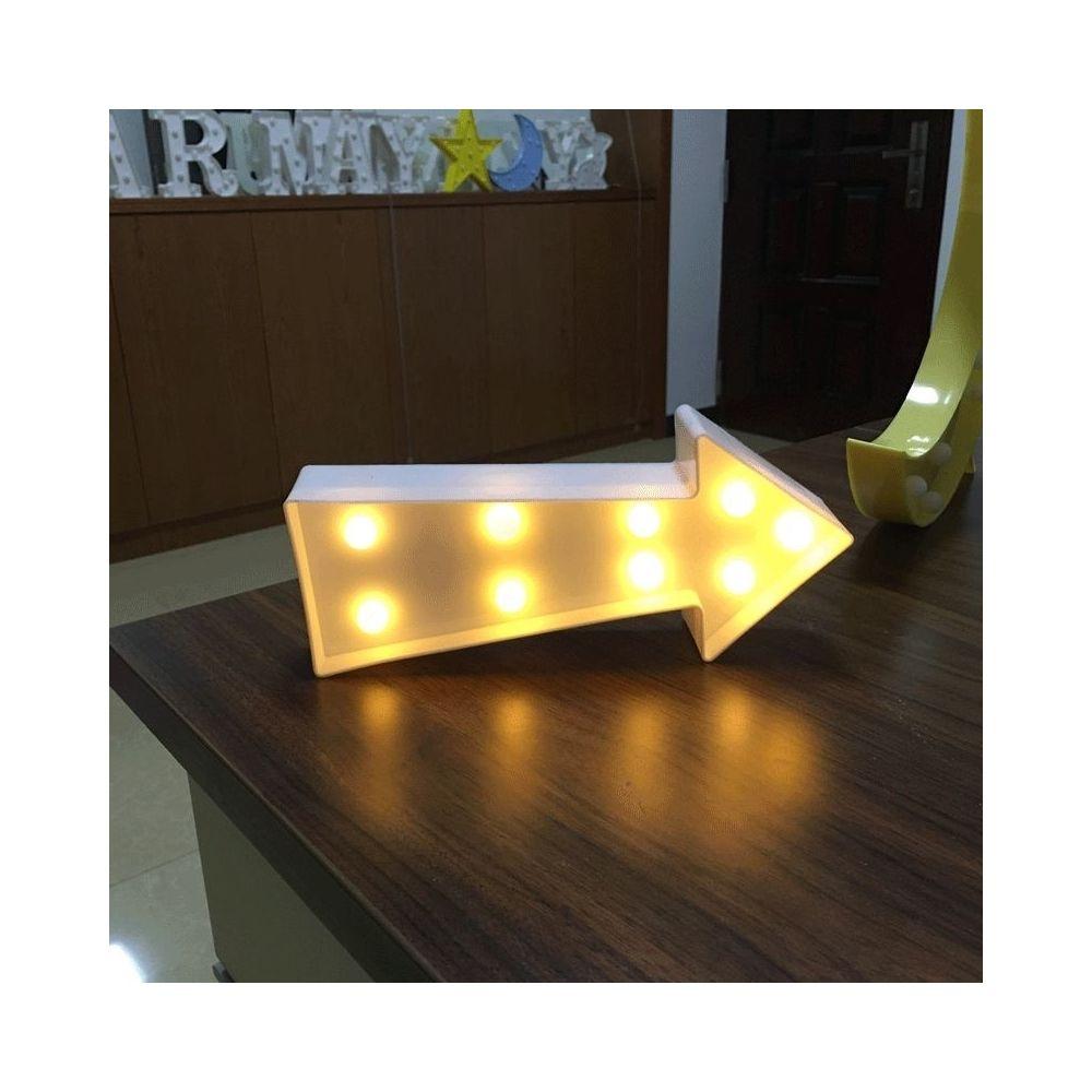 Wewoo Creative flèche signe forme blanc chaud LED décoration décoration, 2 x piles AA alimenté fête fête table table mariage l