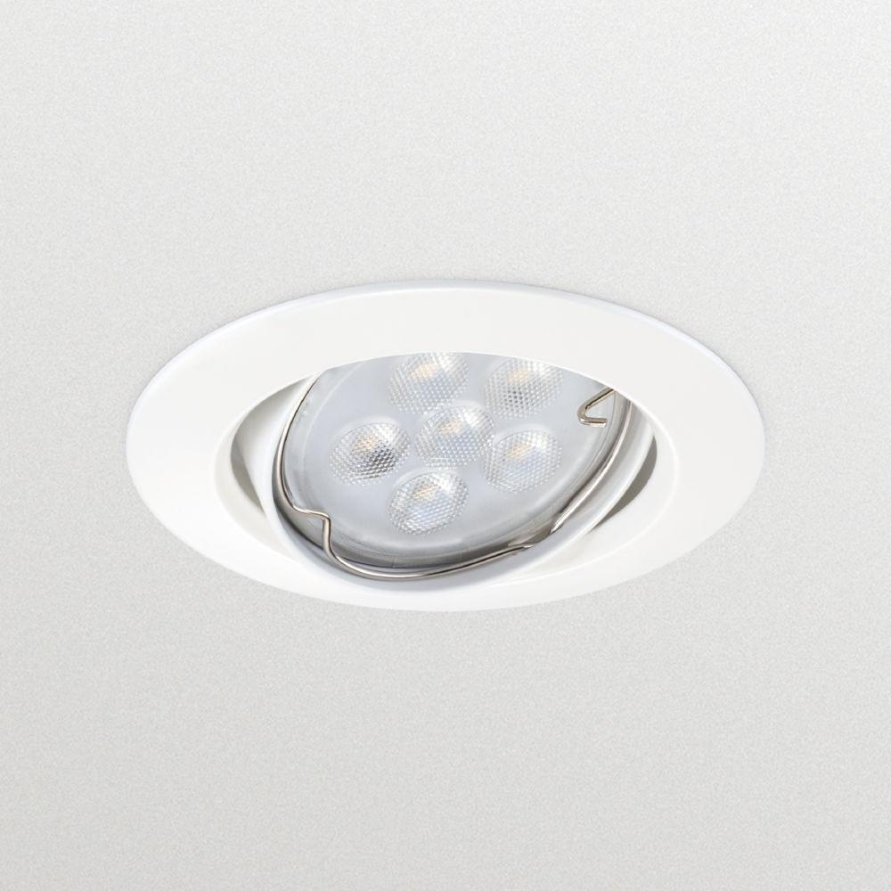 Philips spot encastrable à led - philips zadora - gu10 - 4.3w - 3000k - blanc - philips 070154