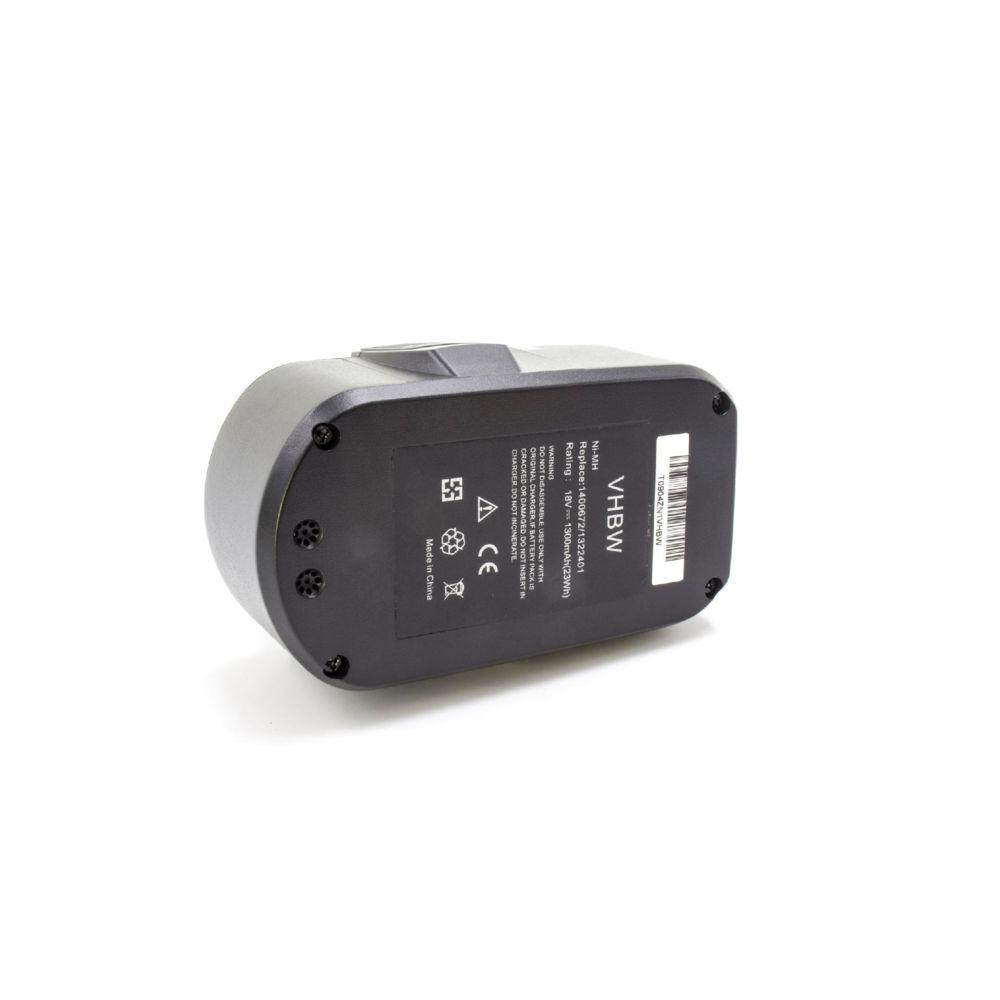 Vhbw vhbw NiMH batterie 1300mAh (18V) pour outil électrique outil Powertools Tools Ryobi CCS-1801/DM, CCS-1801/LM, CCS-1801D,