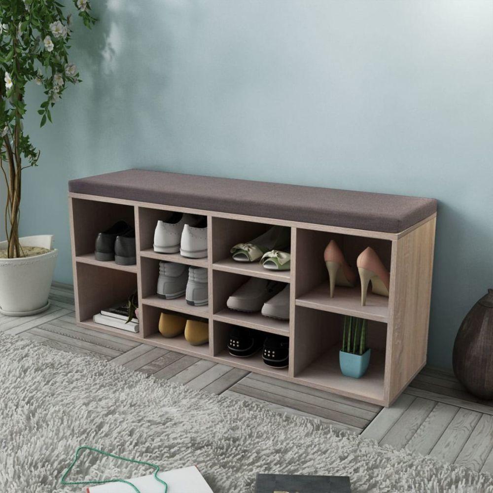 Vidaxl Banc de rangement de chaussures avec 10 compartiments Couleur de chêne | Brun
