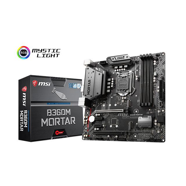 Msi - Intel B360 MORTAR - Micro-ATX - Carte mère Intel