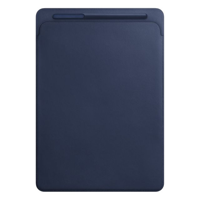 Apple - Leather Sleeve iPad Pro 12.9 - MQ0T2ZM/A - Bleu nuit - Housse, étui tablette