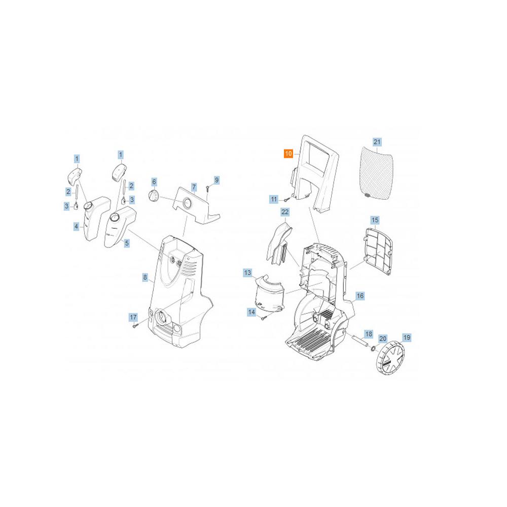 Karcher POIGNEE K5.91M REP 10 POUR NETTOYEUR HAUTE-PRESSION KARCHER - 53218030