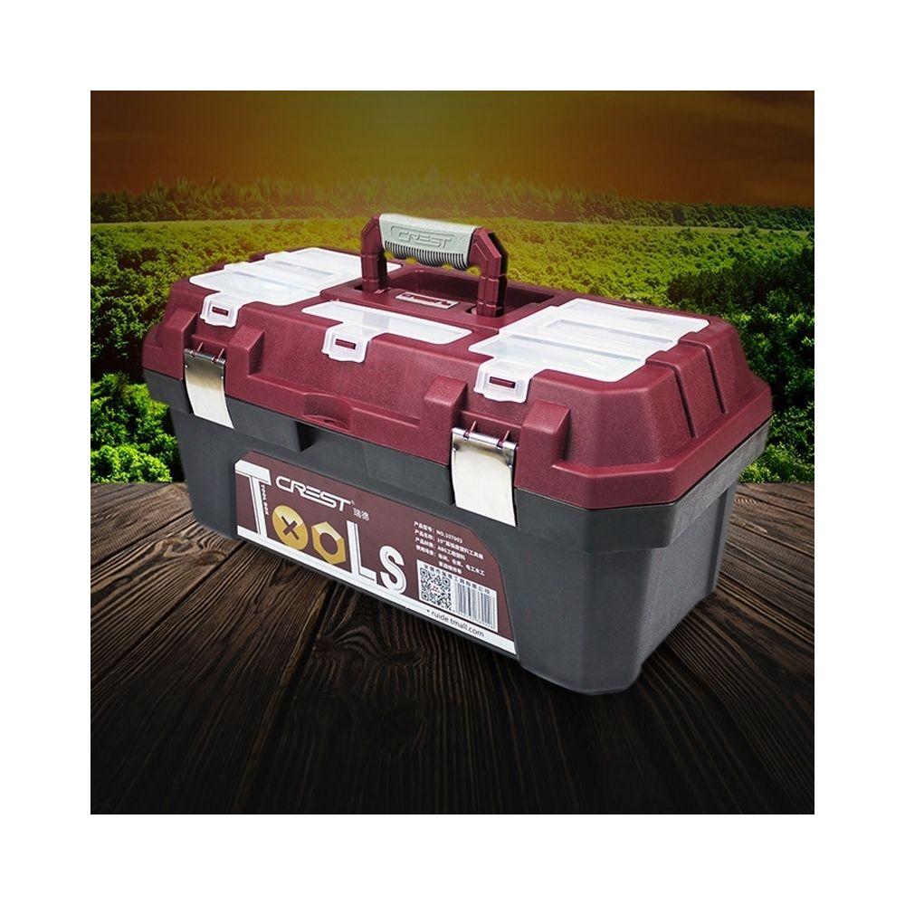 Wewoo Boîte de rangement d'outils multifonctionnelle portable pour la maison, 17 pouces ABS