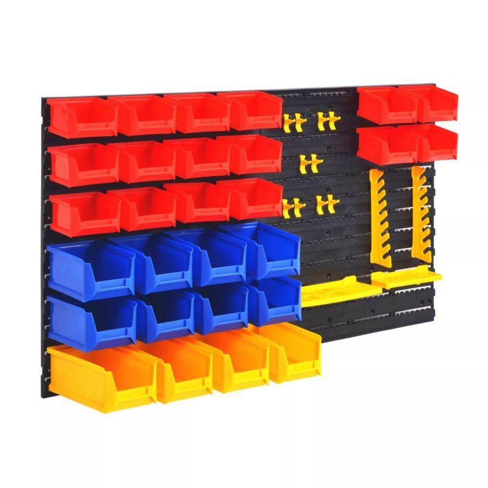 Vidaxl Organisateur d'outils de garage mural - Organisation et rangement d'outils - Armoires à outils   Multicolore   Multicolo
