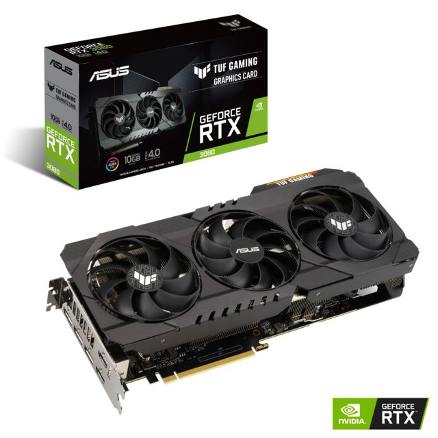Asus - GeForce RTX 3080 - TUF GAMING Triple Fan - 10Go - Carte Graphique NVIDIA Asus