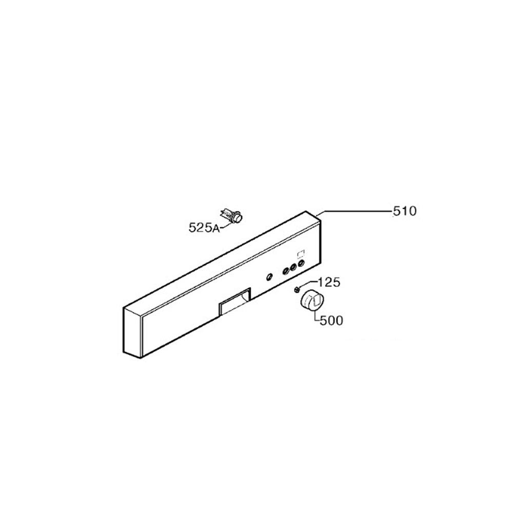Electrolux BANDEAU ASSEMBLE ALUMINIUM REP 510 POUR LAVE VAISSELLE ELECTROLUX - 156088270