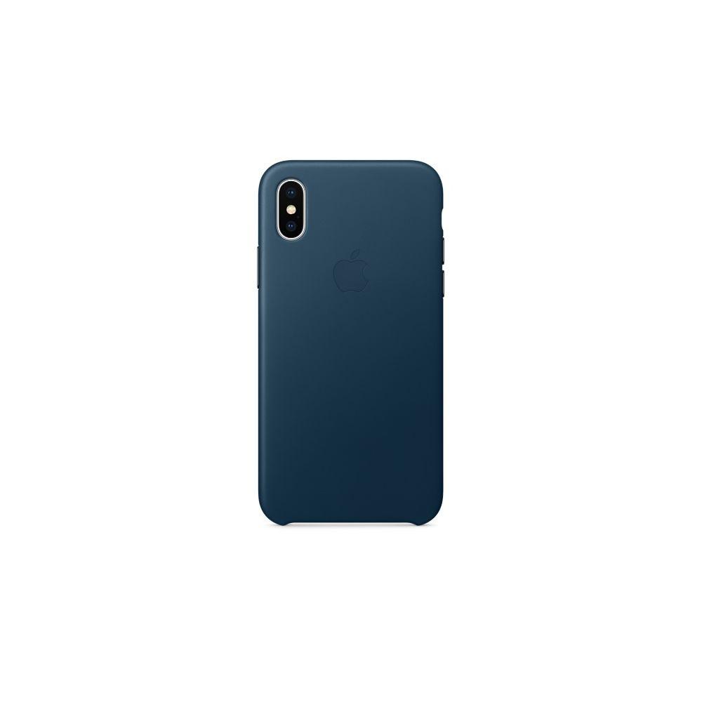 Apple - iPhone X Leather Case - Bleu Cosmos - Coque, étui ...