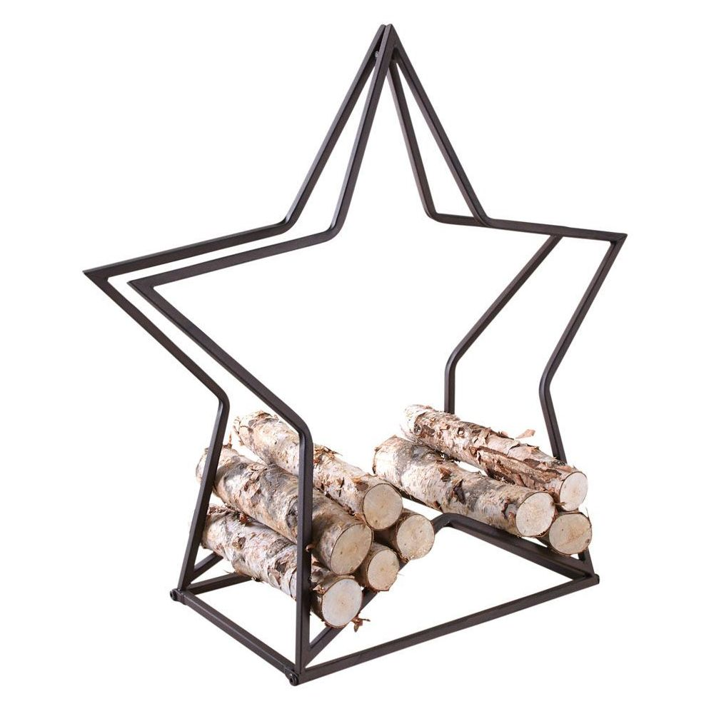 Aubry Gaspard Porte-bûches en métal Étoile