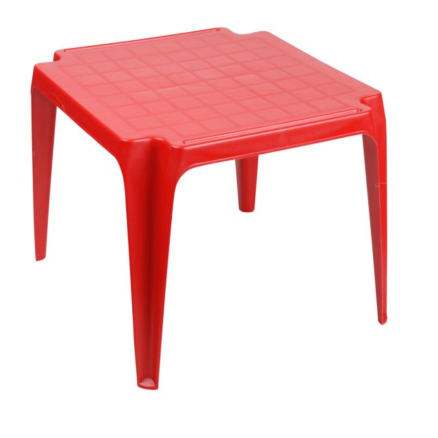 Sunnydays - Table empilable Tavolo Baby - Rouge - Tables de jardin