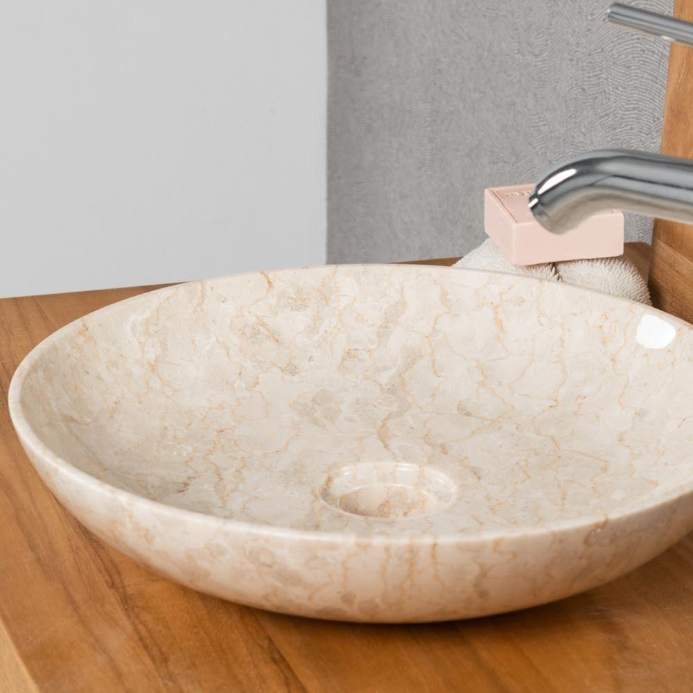wanda collection vasque a poser salle de bain lysom 35 cm creme