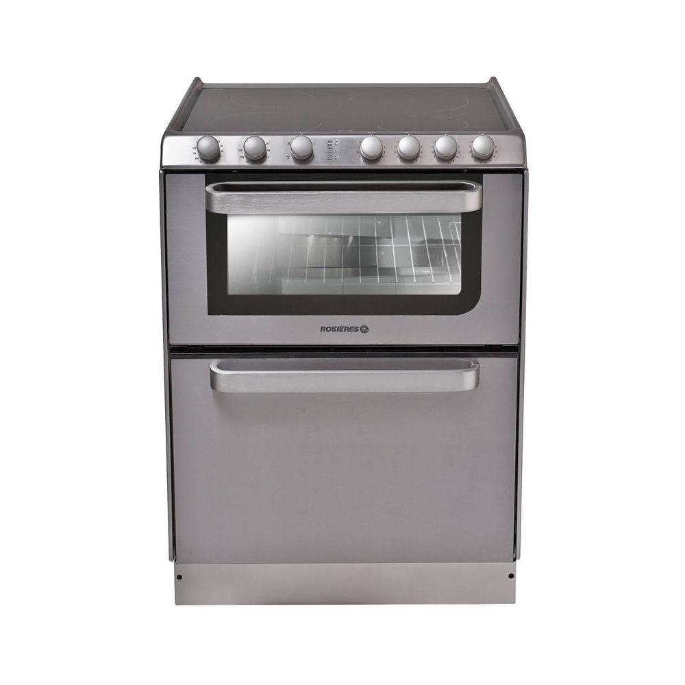 Rosieres rosieres - cuisinière vitrocéramique 4 feux combiné lave-vaisselle 6c - trv60in/u