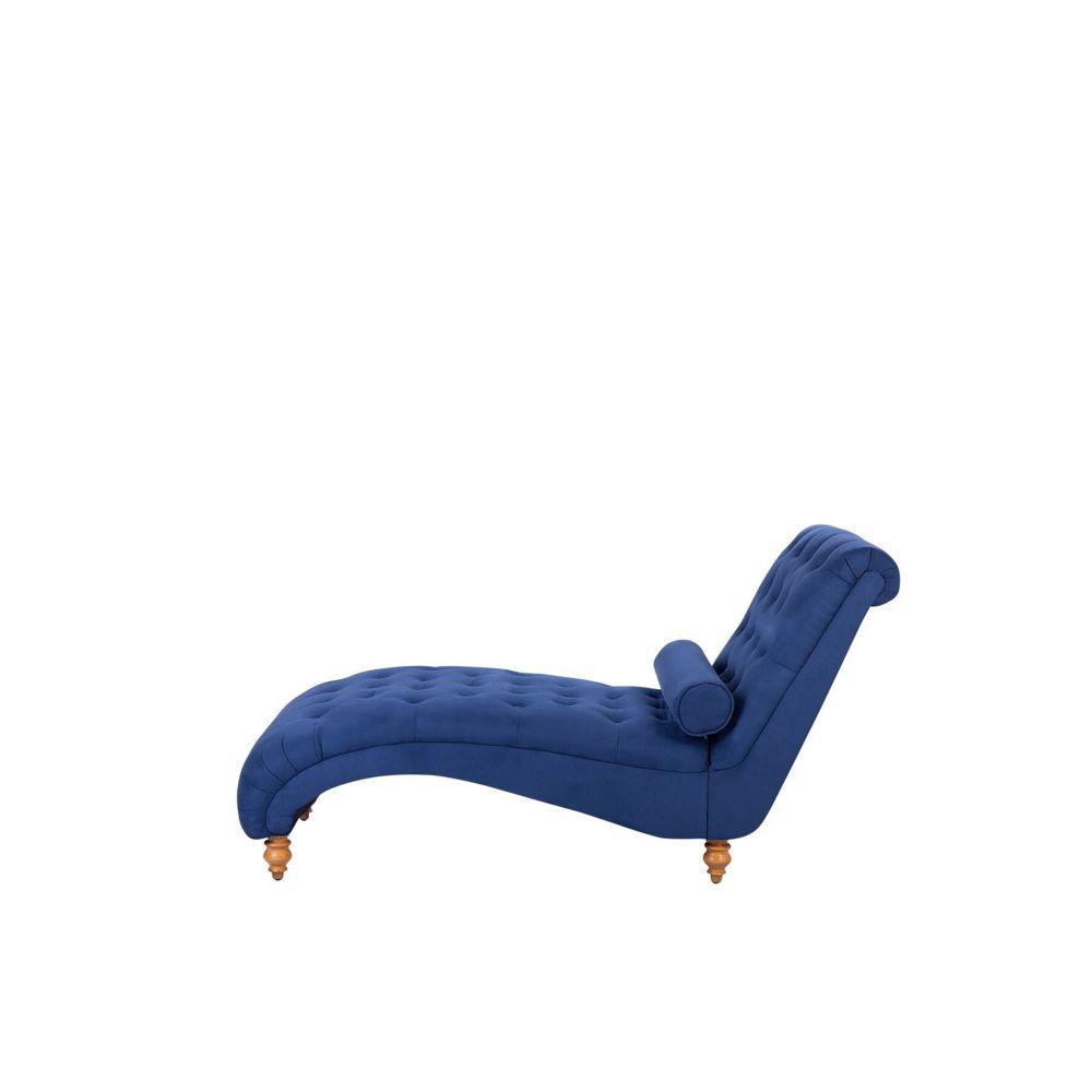Beliani Beliani Chaise longue en tissu bleu MURET - bleu
