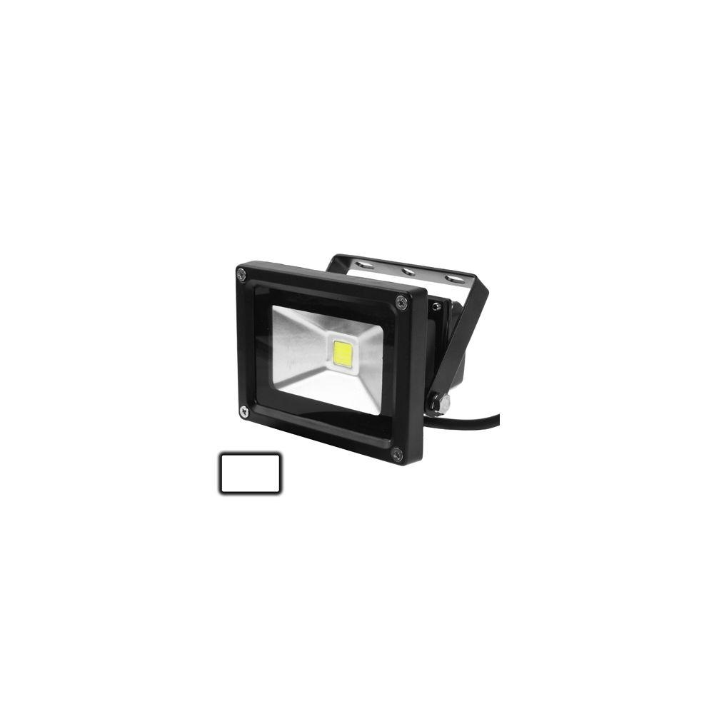 Wewoo Projecteur LED noir Lampe de à blanche étanche 10W, AC 85-265V, Flux lumineux: 800-900lm