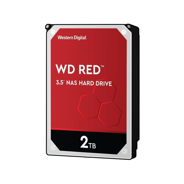 Western Digital - WD RED 2 To - 3.5'' SATA III 6 Go/s - Cache 256 Mo - Rouge - Disque Dur interne