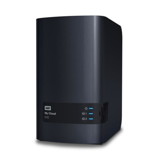 "Western Digital - WD NAS My Cloud EX2 Ultra 0To 3,5""""   WDBVBZ0000NCH Western Digital   - Reseaux Western Digital"