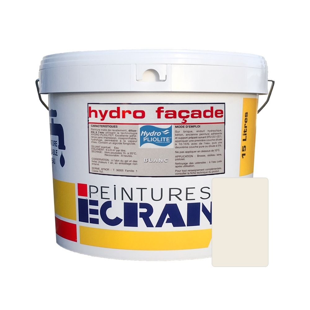 Peintures Daniel Peinture professionnelle hydro pliolite, protection et décoration façades extérieures, HYDRO FACADE-15 litres-Ton pierre