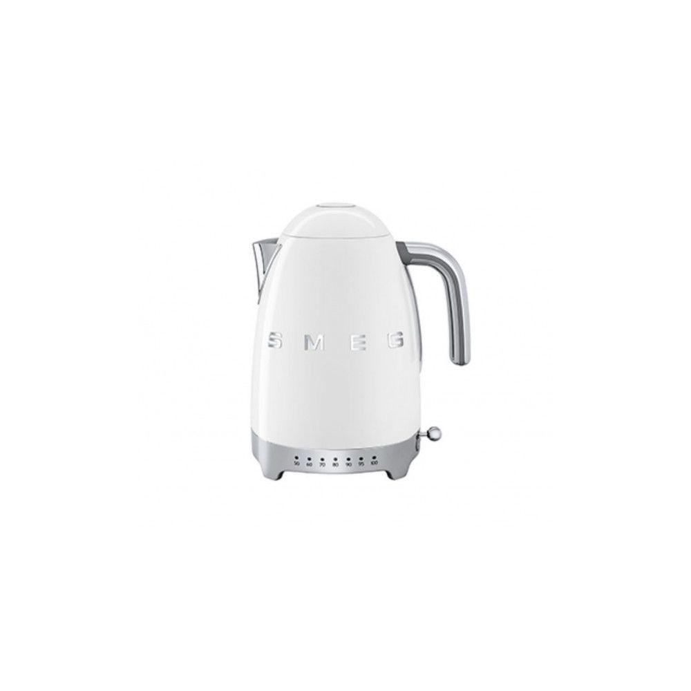 Smeg SMEG Bouilloire 1.7 Litre Années 50 - Température Variable 2400W Blanc KLF04WHEU