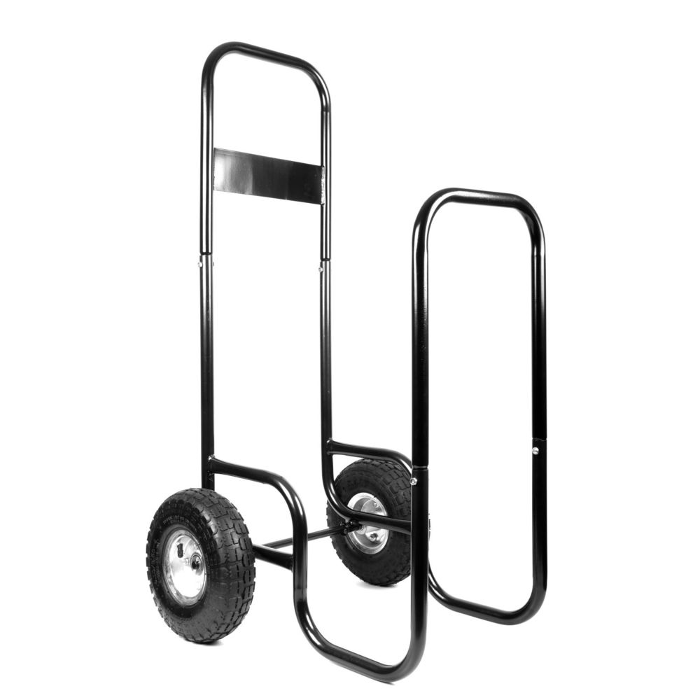 Jardiaffaires Chariot porte bûches 150Kg avec housse de protection