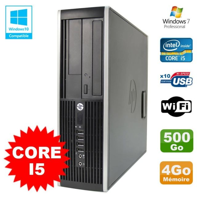 Hp - PC HP Elite 8200 SFF Intel Core I5 3.1GHz 4Go Disque 500Go DVD WIFI W7 - PC Fixe Pc tour