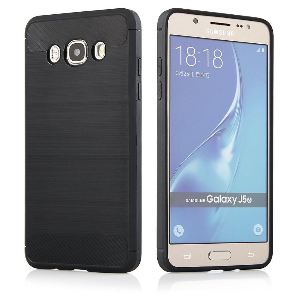 Cabling - CABLING® Coque Samsung Galaxy J5 2016, Noir Silicone Gel ...