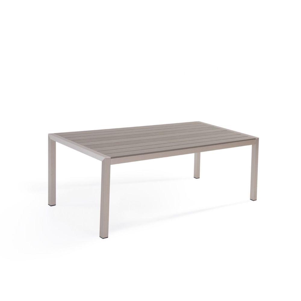 Beliani Beliani Table de jardin en aluminium et bois synthétique gris 180 x 90 cm VERNIO -
