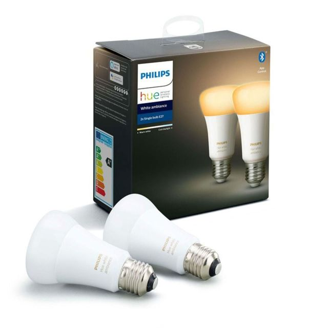 PHILIPS HUE - White Ambiance - Pack de 2 ampoules 8.5W E27