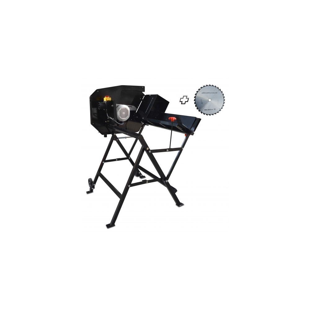 Gardeo Pro Scie à buches électrique 2200 W avec 2 lames