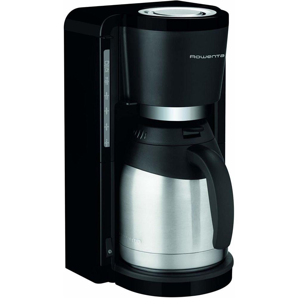 Rowenta cafetière électrique pour 10 a 15 tasses avec verseuse isotherme 800W gris noir