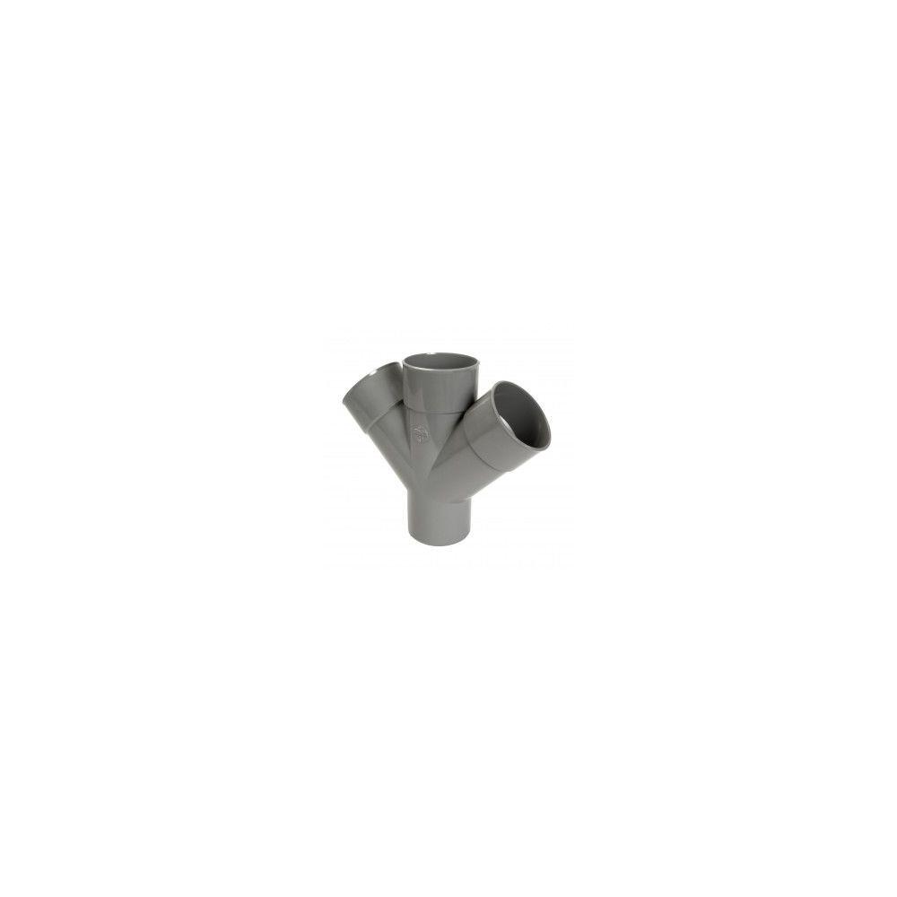 Nicoll Culotte MF double parallèle 45° - RT14 - PVC gris - Ø 100 mm