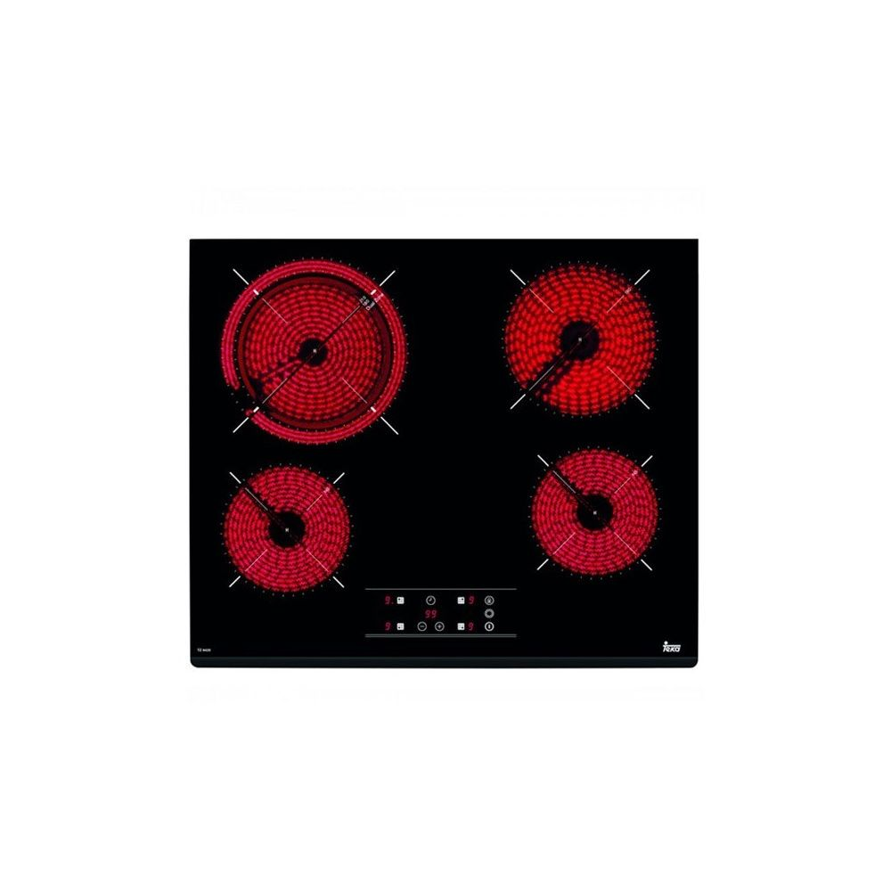 Teka Plaques vitro-céramiques Teka 219605 6200W 60 cm Noir