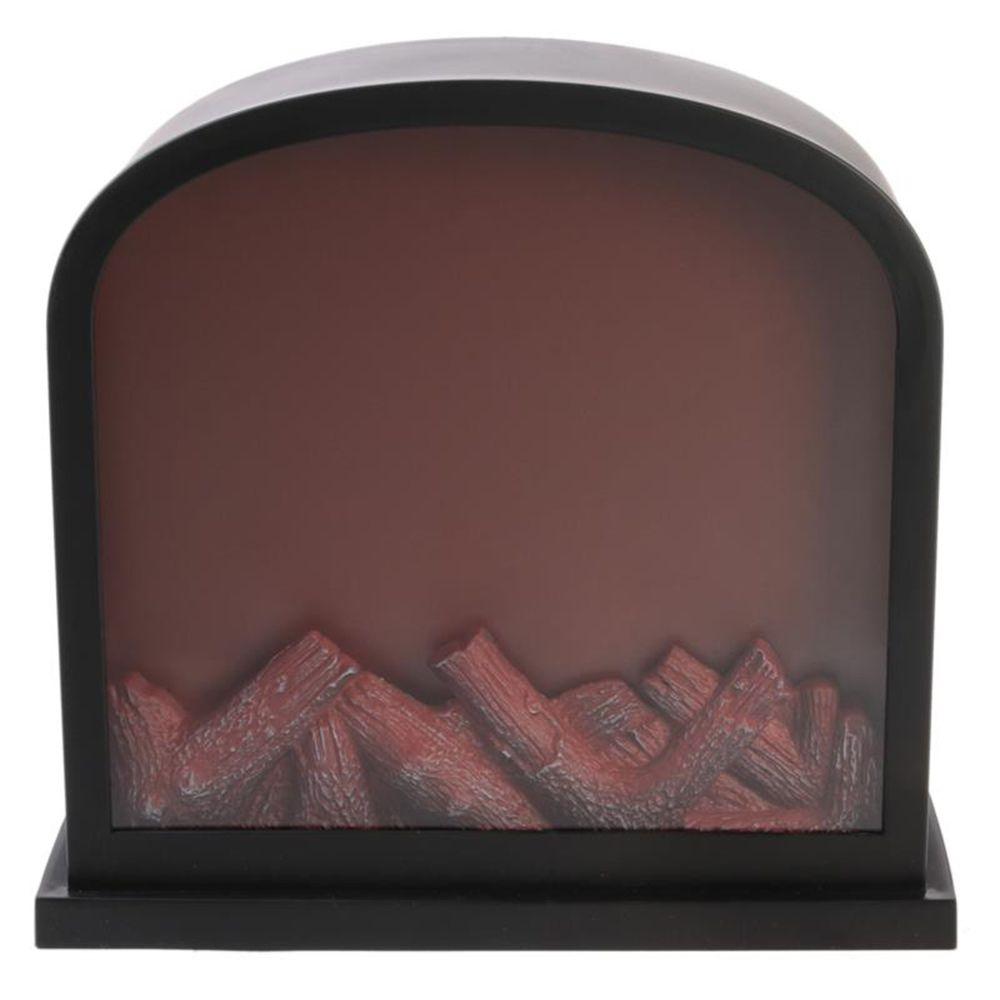 Pegane Cheminée décorative LED coloris noir - 30 x 13 x 28 cm -PEGANE-