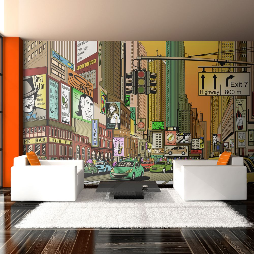 Declina Papier peint XXL - Ville animée - NY