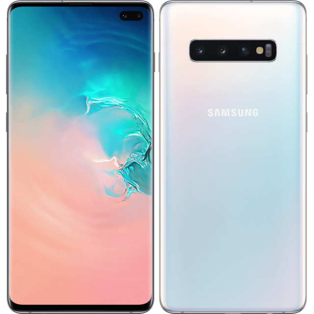 Samsung - Galaxy S10 Plus - 128 Go - Blanc - Bonnes affaires Smartphone Android