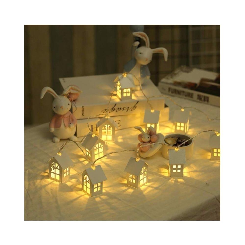 Wewoo Guirlande LED 1.2m 10LEDs maison en bois chaîne décor de chambre lampe fête mariage vacances fée nouveauté nuit lumière