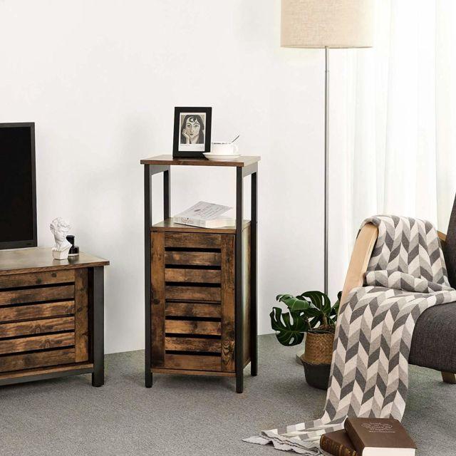 vasagle meuble de rangement armoire de rangement style industriel table