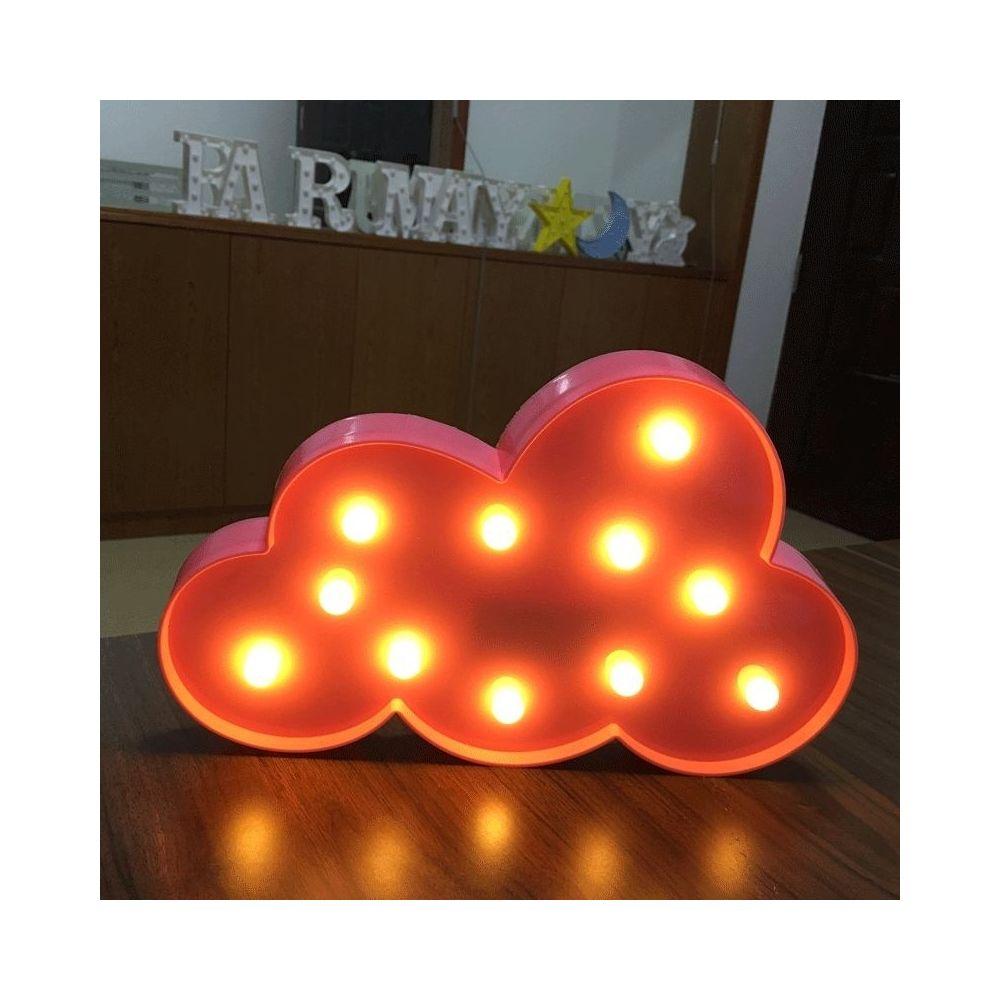 Wewoo Forme de nuage créative Lumière de décoration à DEL blanche chaude, 2 piles AA