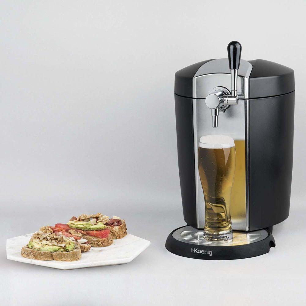 Koenig machine distributeur de bière tireuse de 5L avec Refroidissement intégré 4°C 65W gris noir
