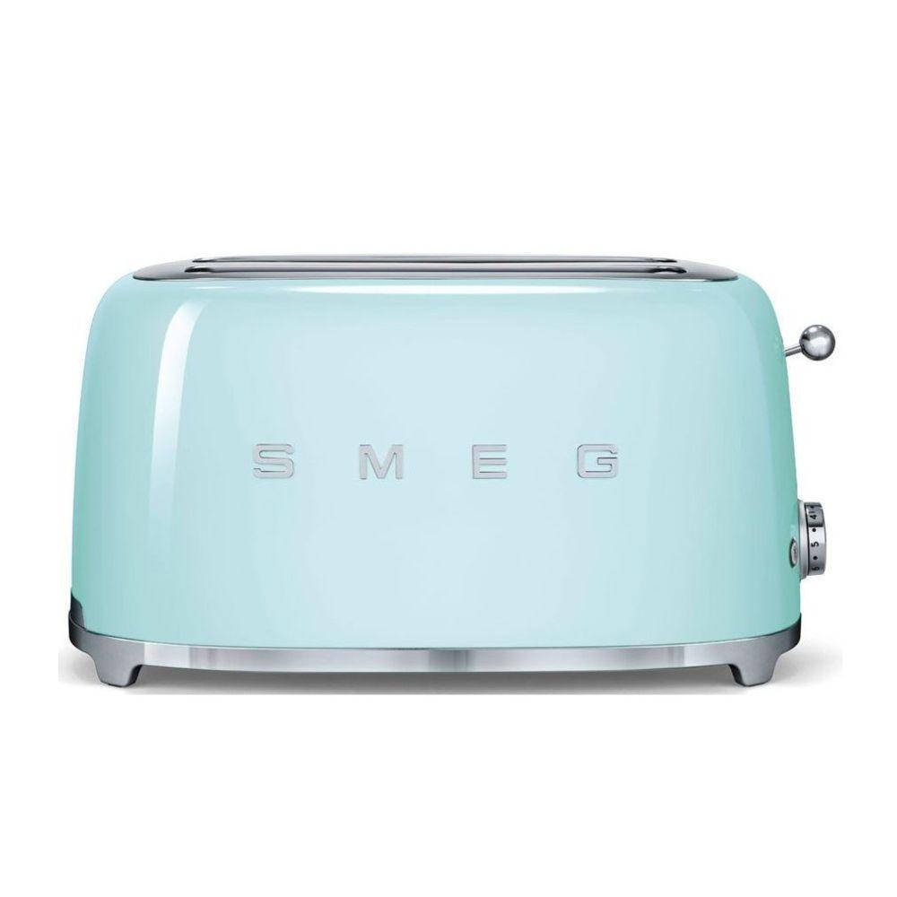 Smeg smeg - grille-pains 2 fentes 1500w vert d'eau - tsf02pgeu