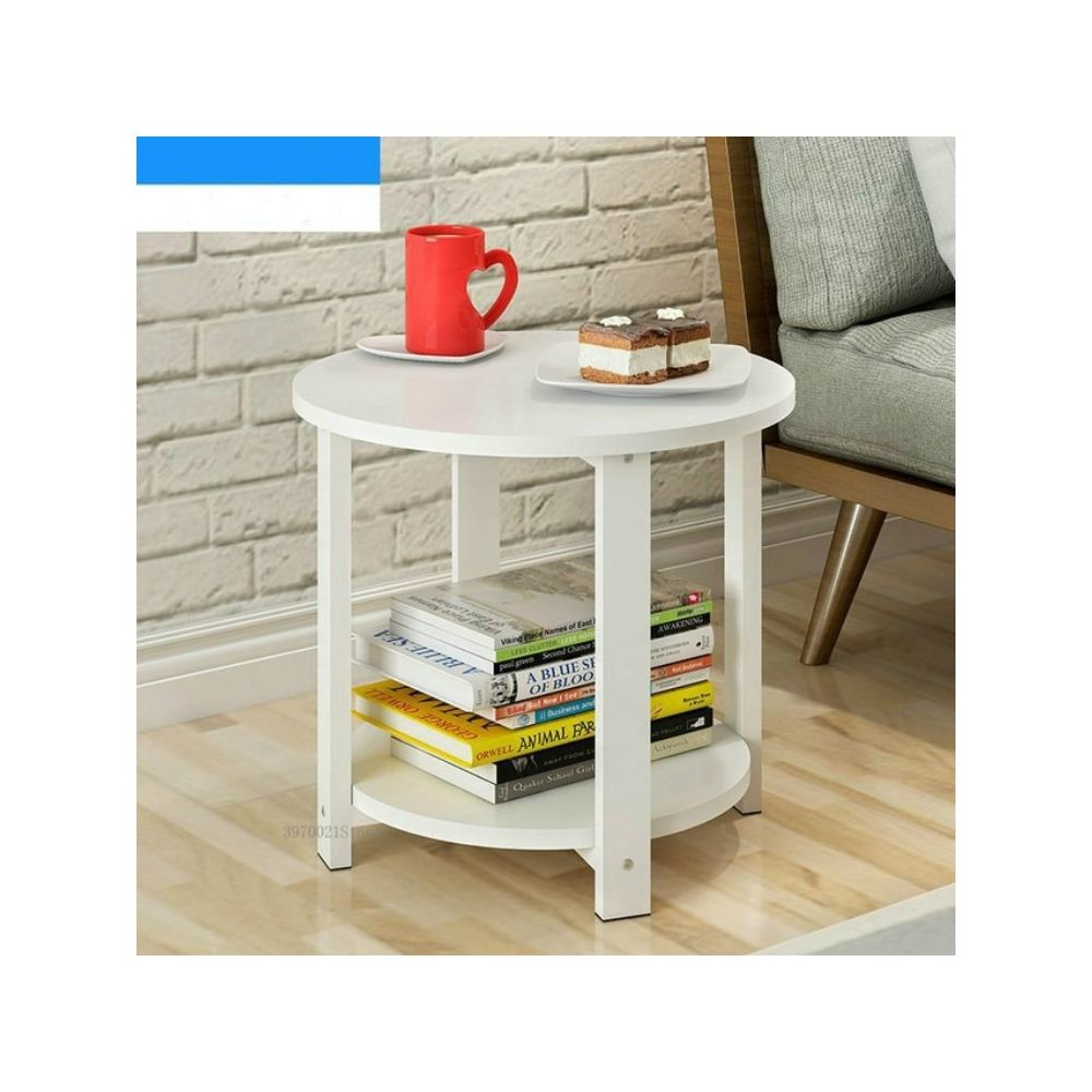 Wewoo Table basse ronde en bois de salon de sofa de chambre à coucher moderne à la maison de taille petite de bassetaille 50 *