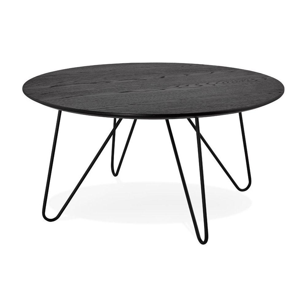 Alterego Table basse design 'PLUTO' noire style industriel