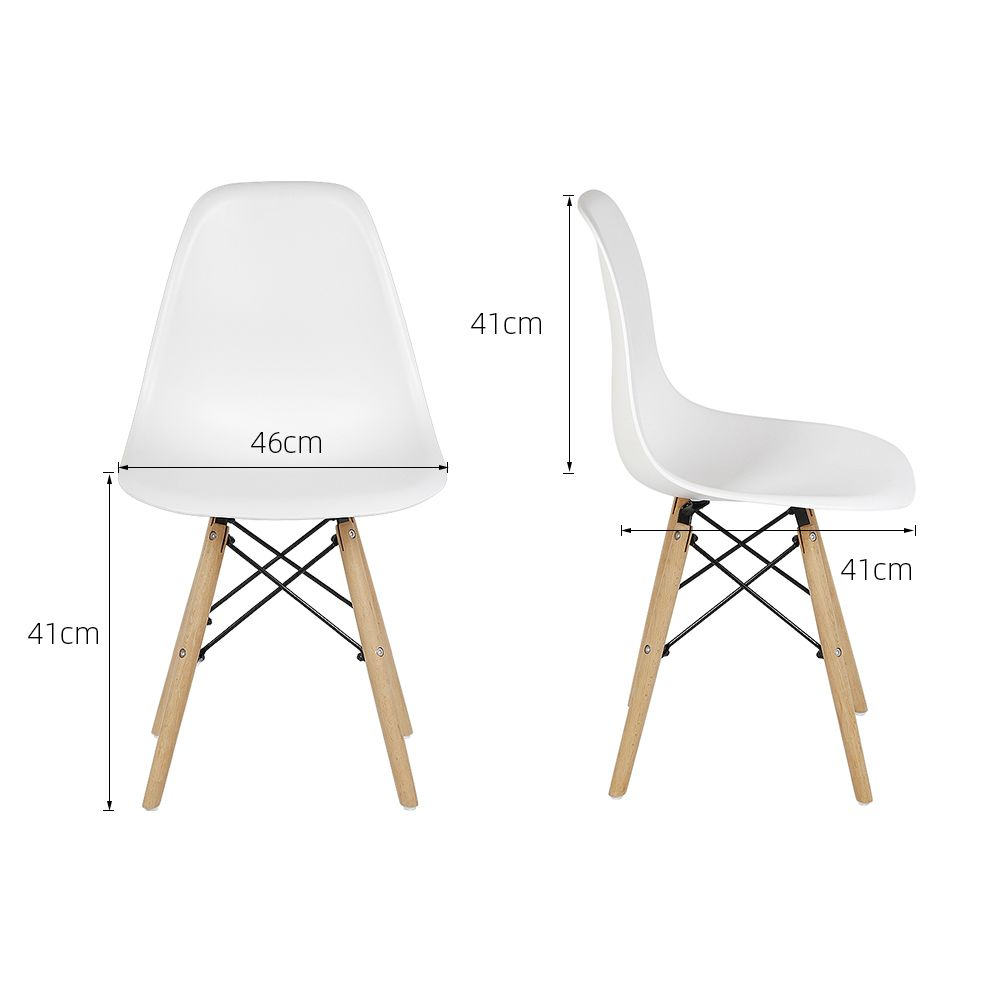 Jeobest - Lot de 7 Chaises Scandinaves Blanches JEOBEST Style