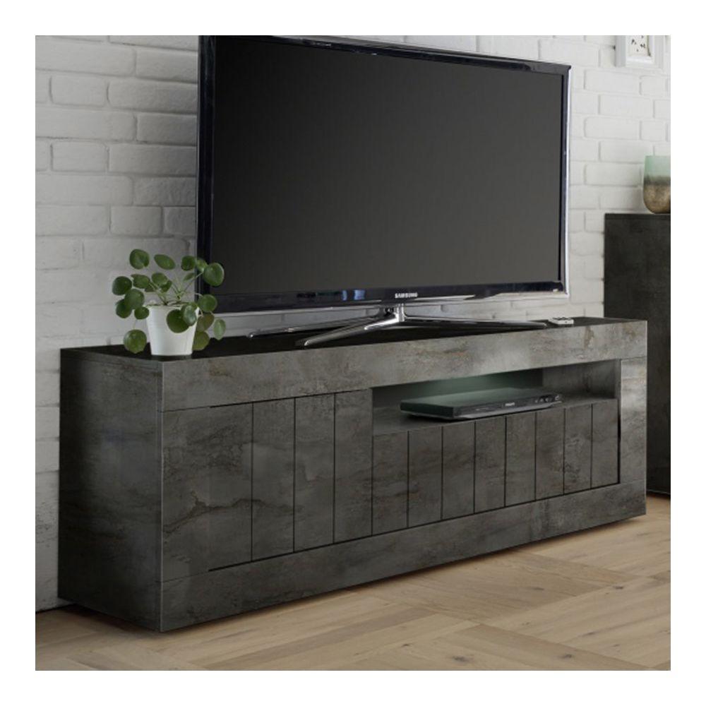 Kasalinea Banc TV gris anthracite moderne MABEL