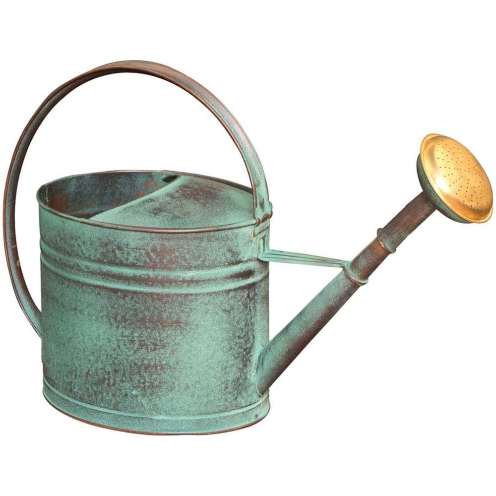 Guillouard Arrosoir vert vieilli avec pomme 4 litres