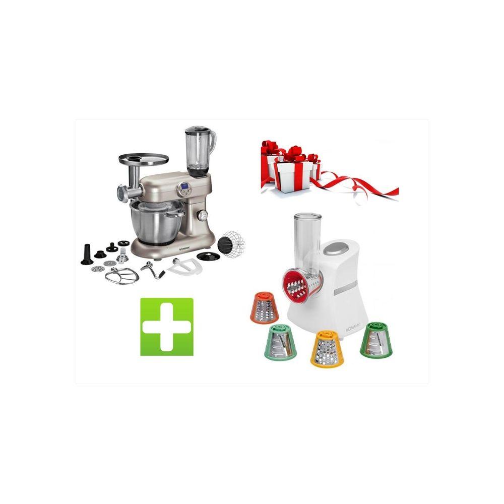 Bomann Pack - Robot pétrin pâtissier Cuiseur Revolution 5EN1 KM 379 CB Multifonctions 2000W