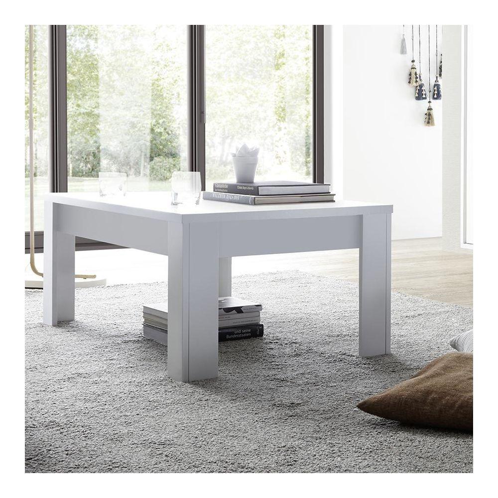 Sofamobili Table basse design blanc laqué mat VERLAINE