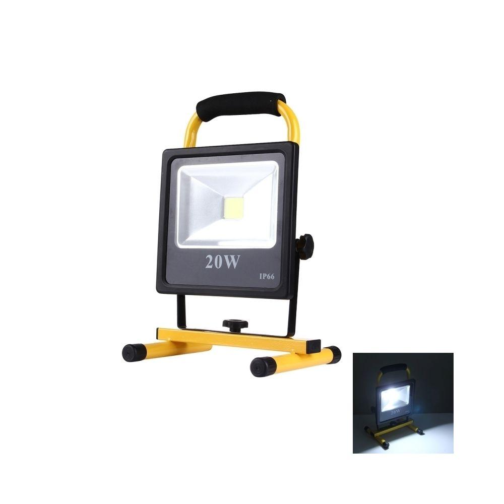 Wewoo Projecteur LED 20W 1800LM IP66 imperméable à l'eau Rechargeable lampe de poche mince, AC 100-250V lumière blanche