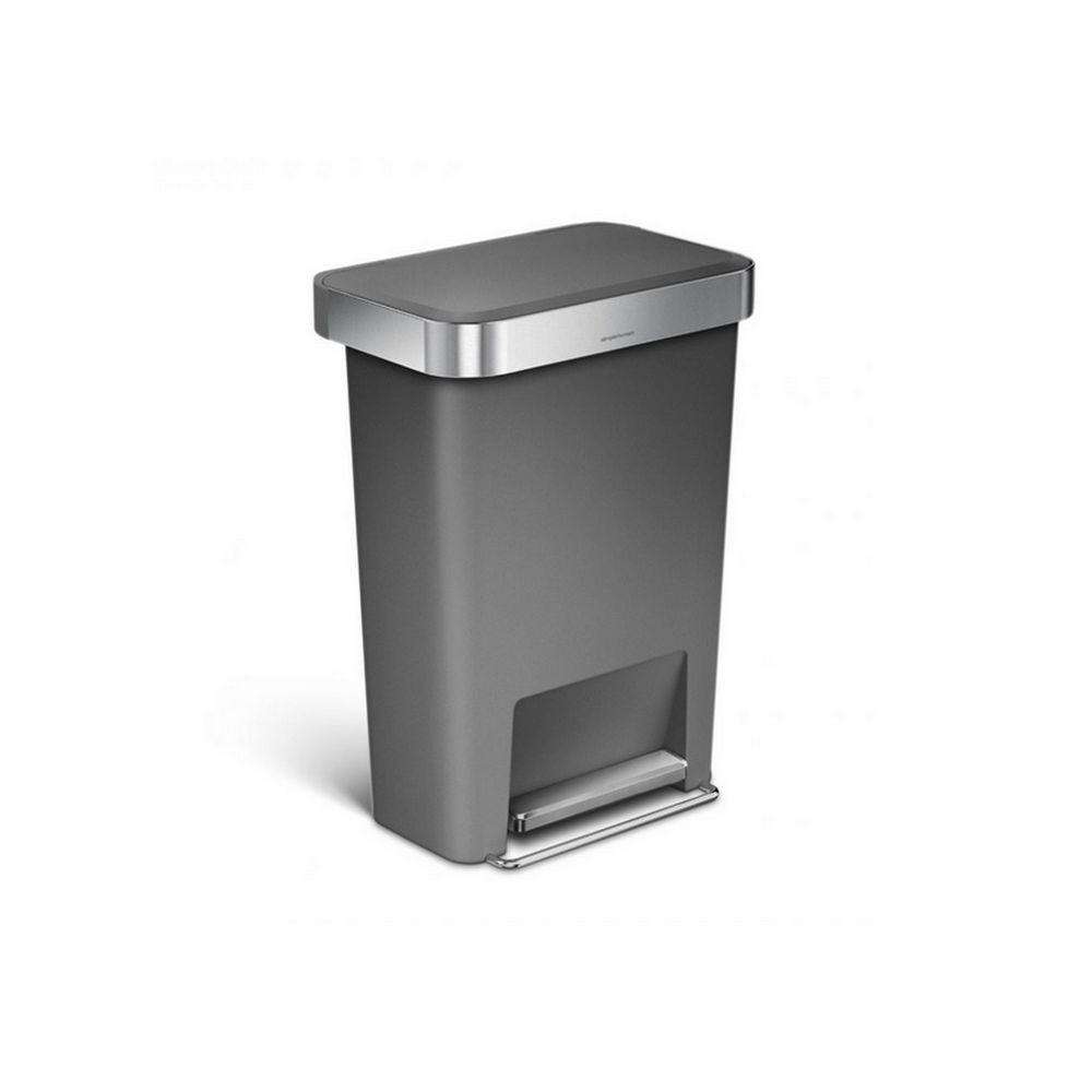 Simplehuman simplehuman - poubelle rectangulaire à pédale 45l gris - cw1386