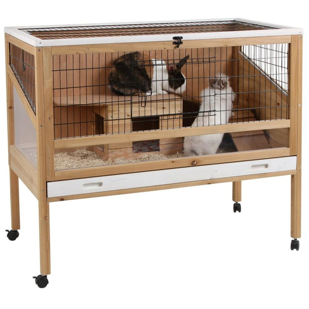Kerbl Kerbl Cage de petits animaux Indoor Deluxe 115 x60 x92,5 cm Bois 82725