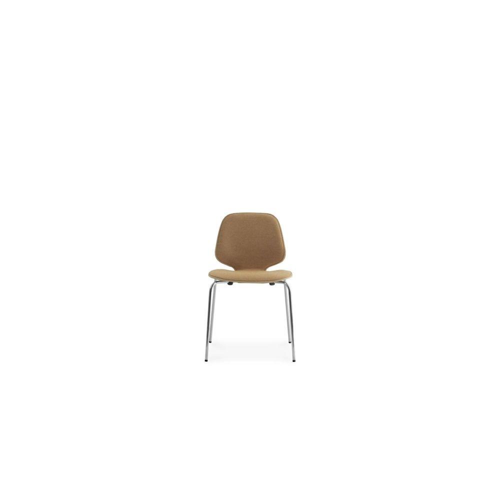 Normann Copenhagen My Chair avec rembourrage - Acier - Noir (Cuir)